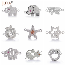 Accessories Connectors Bracelets Jewelry Findings Charms Making Copper Elephant for Zircon