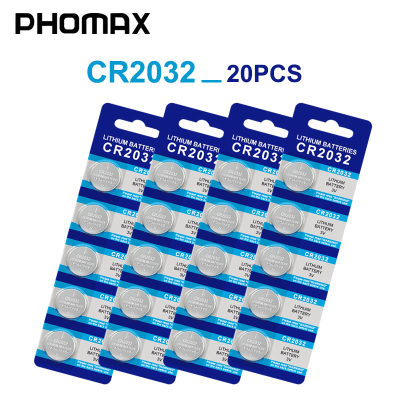 PHOMAX 5pcs/card 20pcs Cr2032 3v Electric Toy Class A Battery Counter Clock Watch Battery DL2032 Br2032 KL2032 Button Batterie