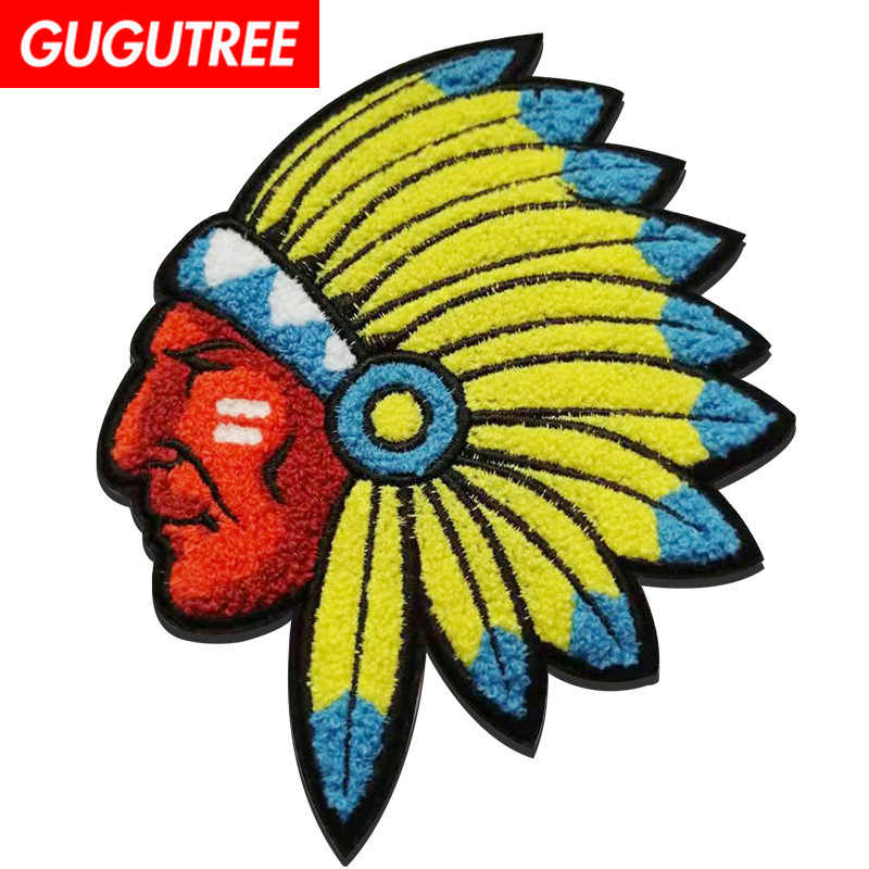 Gugutree Asciugamano Ricamo Big Indian Patch Del Fumetto di Patch Badge Applique Patch per Abbigliamento FD-141