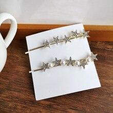 New Fashion Temperament Edge Chic Sweet Multi Diamante Star Hair-Clip Hair Accessories 2101