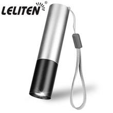 USB şarj edilebilir Mini LED el feneri 3 aydınlatma modu su geçirmez meşale teleskopik yakınlaştırma şık taşınabilir takım elbise gece aydınlatma