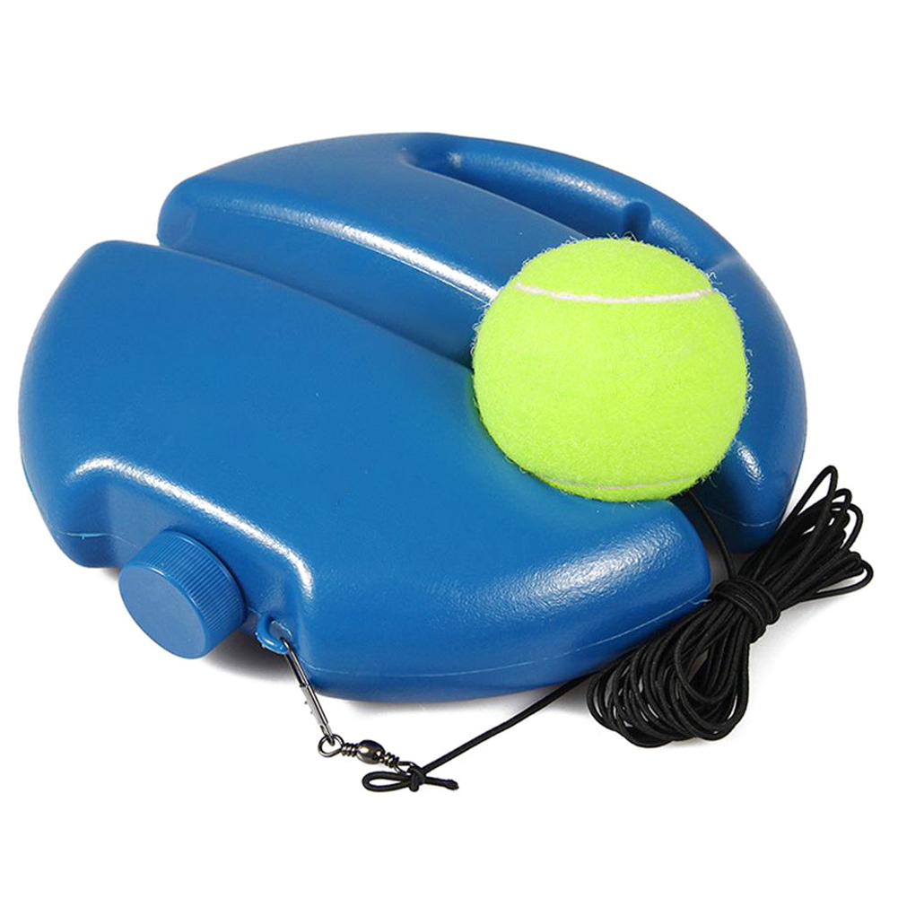 Tennis Training Aids Tool With Elastic Rope Ball Practice Self-Duty Rebound Tennis Trainer Partner Sparring Device Plastic S25