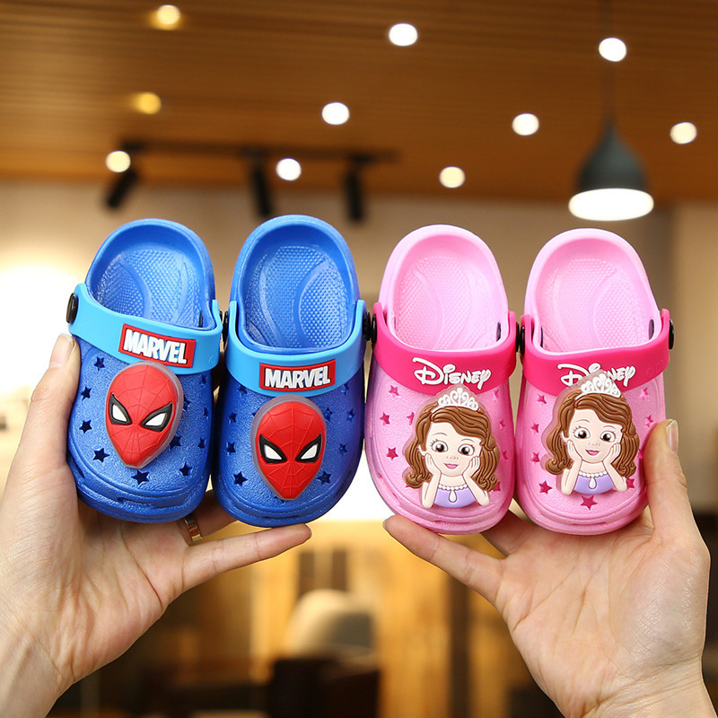 New Girls Boy Sandals Beach Slippers Clogs Pumps Cartoon Shoes Kids Baby Toddler
