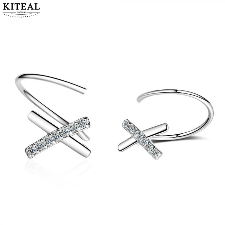 KITEAL Mode schmuck charms silber überzogene Weibliche Freund clip ohrringe Geometrische X frauen earing charme