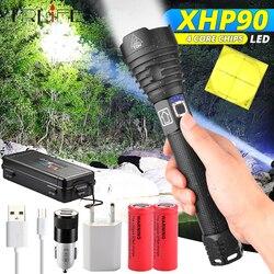 160000LM XHP90 Mais Poderosa Lanterna LED XLamp XHP70.2 USB Recarregável Luz Tático 18650 26650 Zoom Lanterna Lâmpada de Acampamento