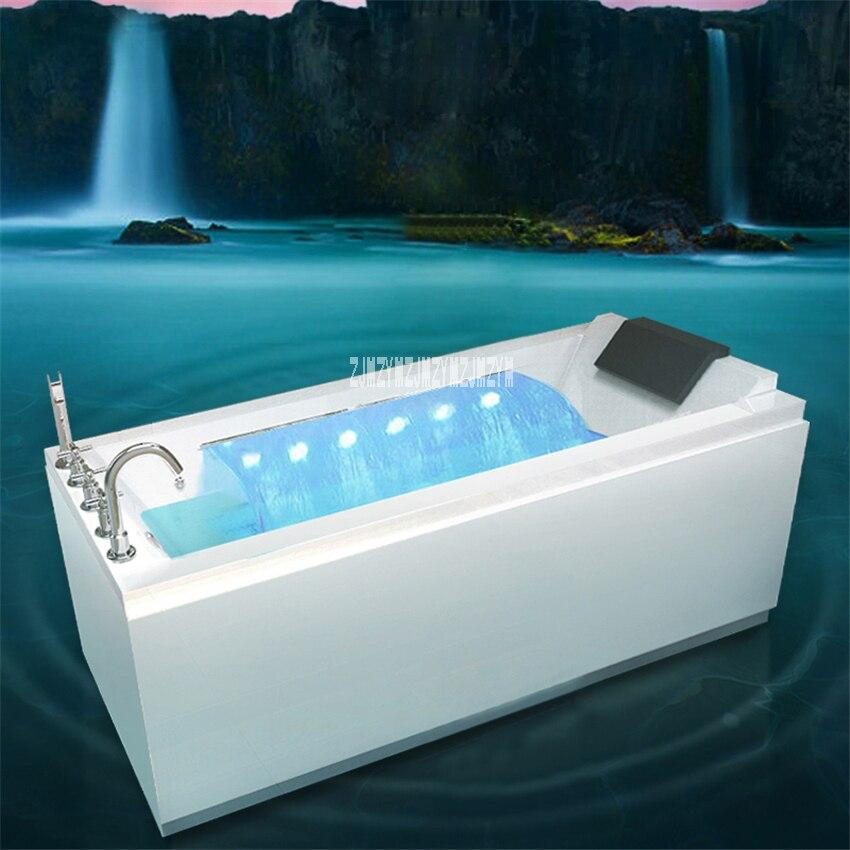 Parede do agregado familiar canto banheira casa banheiro adulto acrílico surf banheira com função de massagem acrílico banheira de hidromassagem 1.4m-1