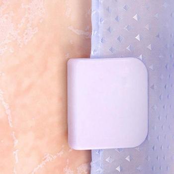 Samoprzylepne klipsy do zasłon prysznicowych przeciw rozpryskom wyciek zatrzymaj wyciek wody osłona łazienka prysznic stała kurtyna akcesoria domowe tanie i dobre opinie CN (pochodzenie) Stałe Kurtyna Tie Backs i Frędzle Z tworzywa sztucznego Nowoczesne 5 0cmX4 5cm