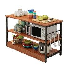 Кухонная полка для хранения, подставка для микроволновой печи, кухонный стол, многослойные полки, многофункциональные стеллажи, экономят место