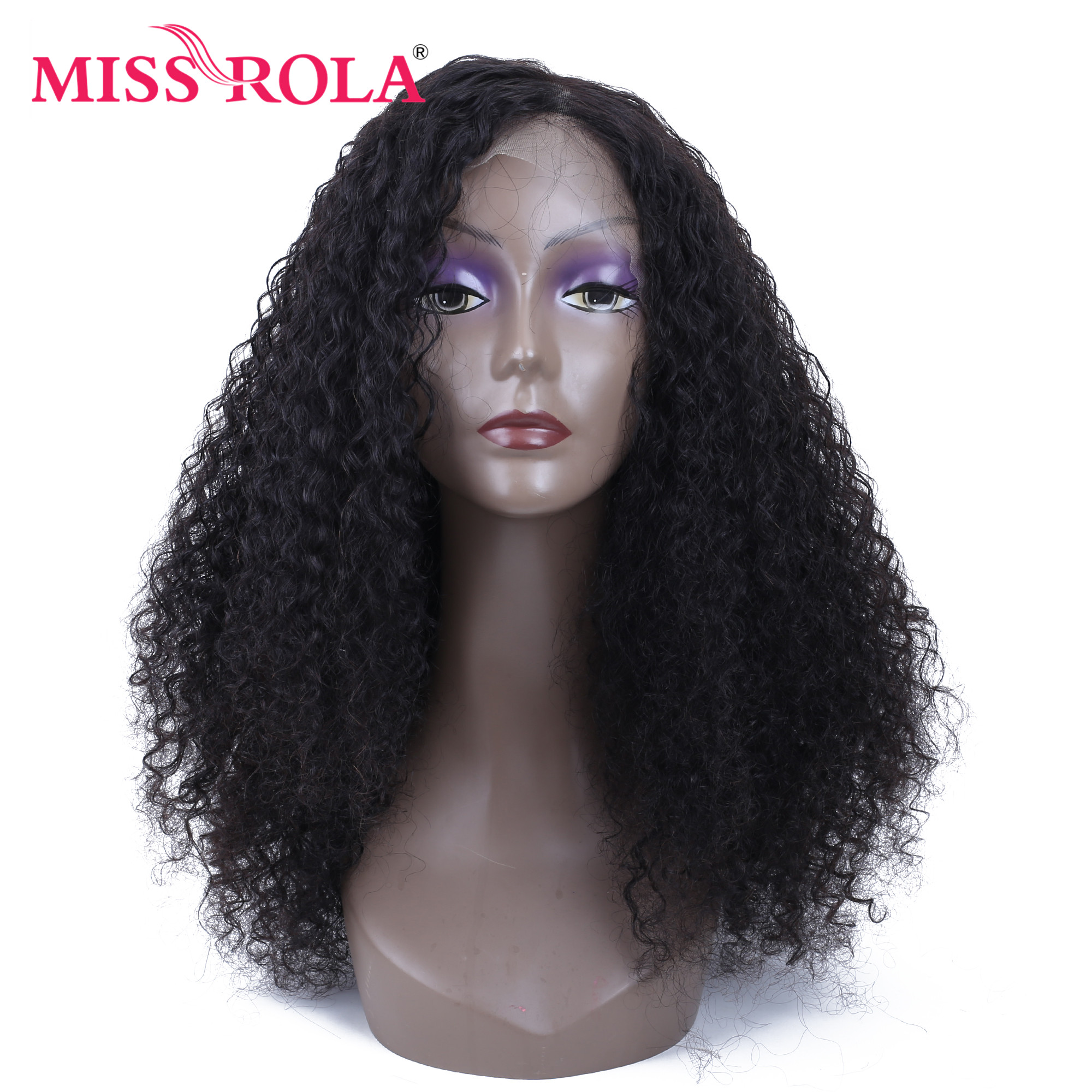 Miss Rola Brazilian Human Hair Wigs 150% Density Lace Frontal 13x4 Kinky Curly Hair Wigs For Black Women Remy Hair Wig