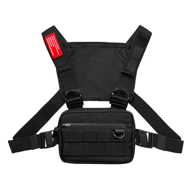 1PCS Men Tactical Waist Bag Tactical Vest Chest Pack Hip Hop Function Chest Rig Pack