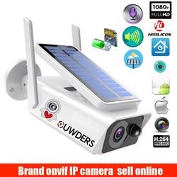 Kamera monitorująca o szerokim widoku zasilanie panel słoneczny akumulator 1080P Full HD zewnętrzna ochrona wewnętrzna słoneczna kamera IP WIFI na