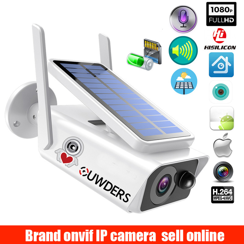 Wide View POWER surveillance camera Solar panel Rechargeable Battery 1080P Full HD Outdoor Indoor Security solar WIFI IP Camera