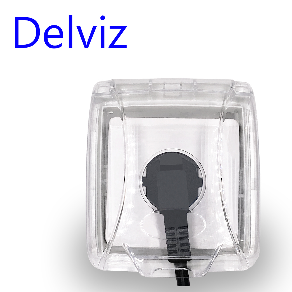Delviz Transparent Box Switch Socket Protective Box Dust Cover For Wall Socket Square Switch Box Household Waterproof Cover Box