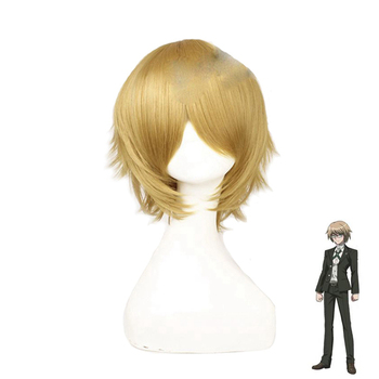 Danganronpa Togami Byakuya Cosplay Wigs Short Fluffy Layered Synthetic Hair Halloween Costume Party Wigs + Wig Cap цена 2017