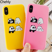 Fashion Phone Case for iPhone X XR XS Max 6s 7 8 Plus 11 Pro MAX Cute Panda Cases Soft Silicone Cell Phone Accessories Covers цена