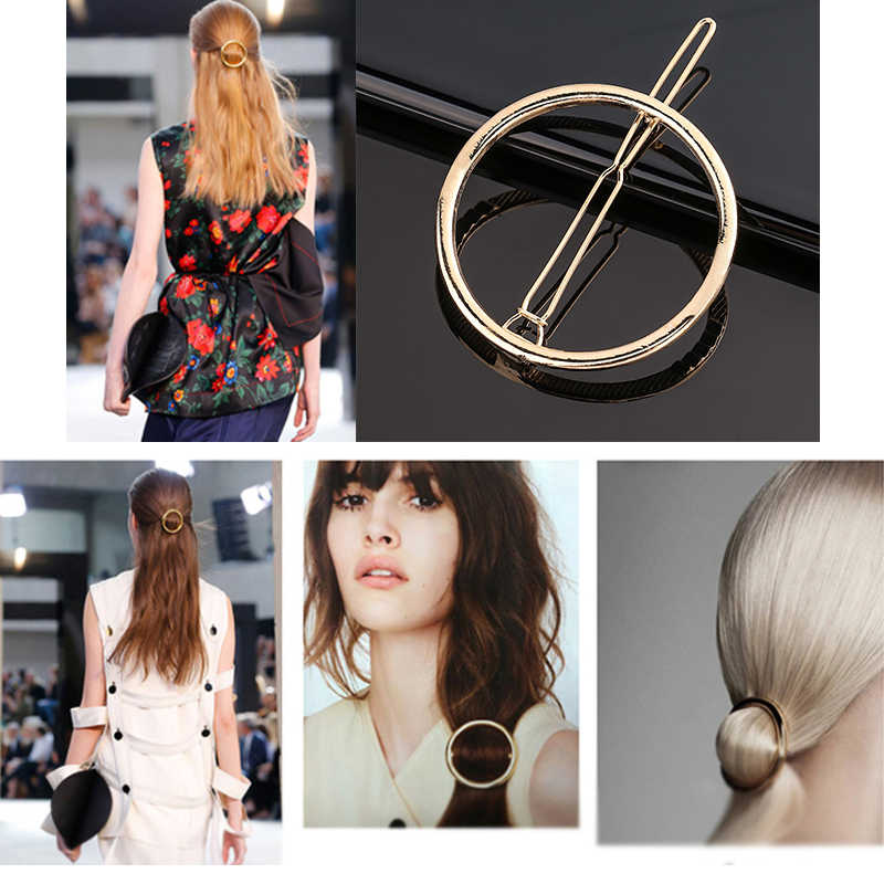 1Pc Logam Bulan Ikatan Simpul Rambut Klip Rambut Sisir Pin Barrette Jepit Rambut Bulang Aksesoris Kecantikan Alat Styling Baru