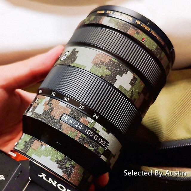 עדשת עור מדבקות מגן גלישת כיסוי מדבקה עבור Sony 16 35 f4 24 70 2.8GM 70 200 2.8GM f4 70 300 אנטי שריטה