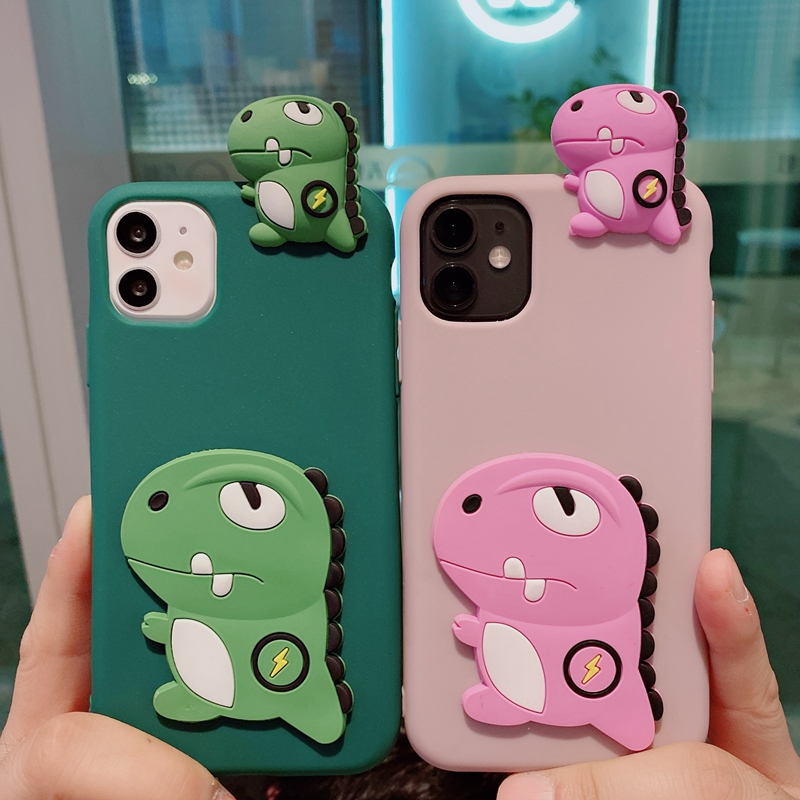Cute 3D Dog Animal Silicone Phone Case For Samsung Galaxy S21 S9 S8 Plus S10 Lite S10E S7 Edge S20 Ultra FE Cases Soft TPU Etui