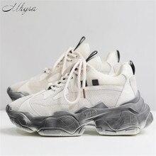 Mhysa/Новинка года; сезон осень-зима; Корейская версия дышащей белой обуви; модная повседневная спортивная обувь на платформе; M489