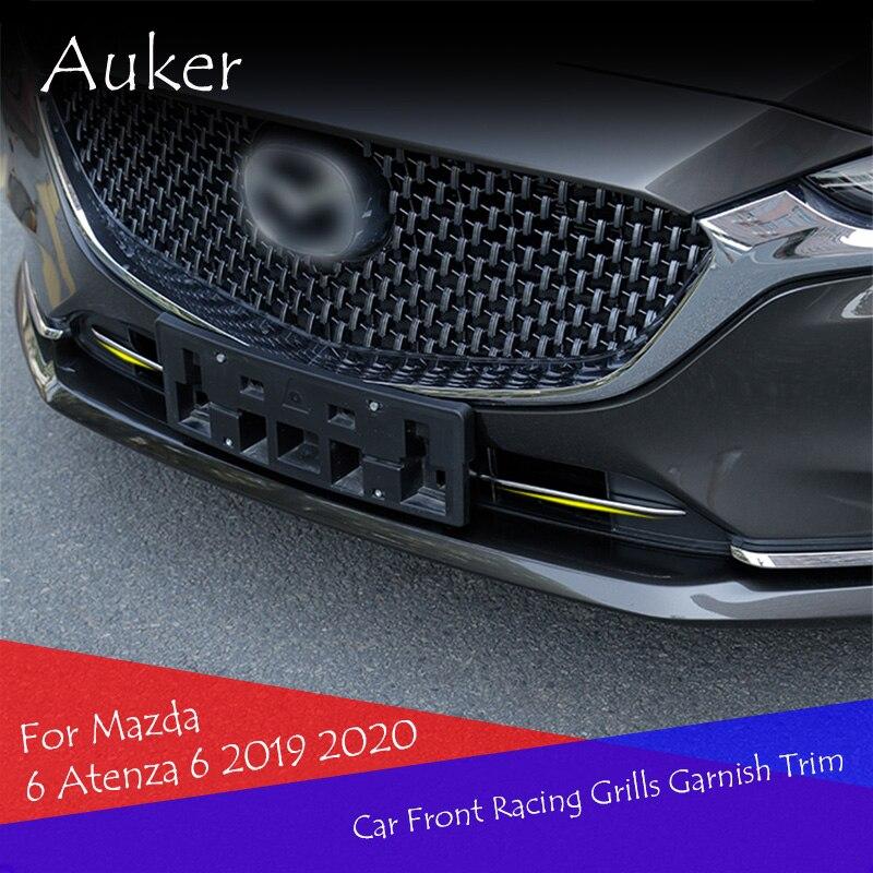 Аксессуары для автомобиля из нержавеющей стали, передняя решетка для гриля, отделка, полоски, наклейка, автомобильные Стайлинг, аксессуары для Mazda 6 Atenza 6, 2019, 2020|Хромирование|   | АлиЭкспресс