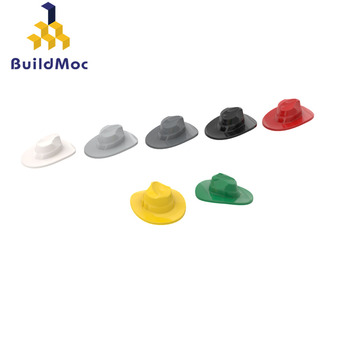 BuildMOC 61506 FEDORA HAT For Building Blocks Parts DIY Construction Creative gift Toys