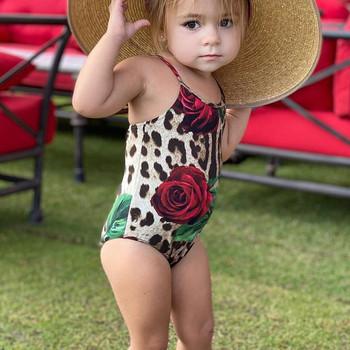 2-6 lat stroje kąpielowe dla dzieci niemowlę dzieci dziewczynek stroje kąpielowe Leopard z kwiatowym wzorem One Piece stroje kąpielowe dla dziewczynek chłopców #0508g30 tanie i dobre opinie Perimedes Pasuje prawda na wymiar weź swój normalny rozmiar Dziewczyny COTTON Floral New children s one-piece swimsuit