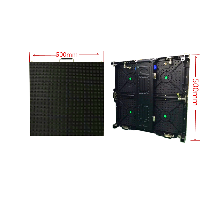 500x500mm Indoor Rgb Led Display Screen P4.81 Indoor Die Cast Aluminum Cabinet For Rental Advertising Video Wall Led Screen