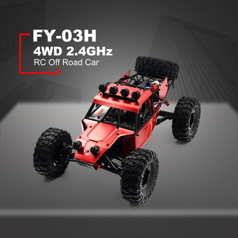 FY 03H 1:12 RC Car 2,4G Off Road Racing camión de escalada del desierto 4DW juguete de Control remoto vehículo Rock Crawler sin escobillas 35 km/h - 2