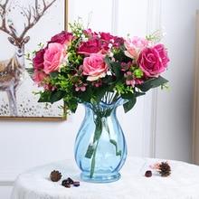 Beautiful Rose Flower Home Decor Artificial Flowers Silk  Simulation Bunch Fake Wedding Holding