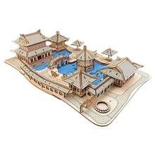 DIY Suzhou gardens 3D Wooden model building puzzles kids toys handcraft educational games assemble kits Christmas birthday gifts(China)
