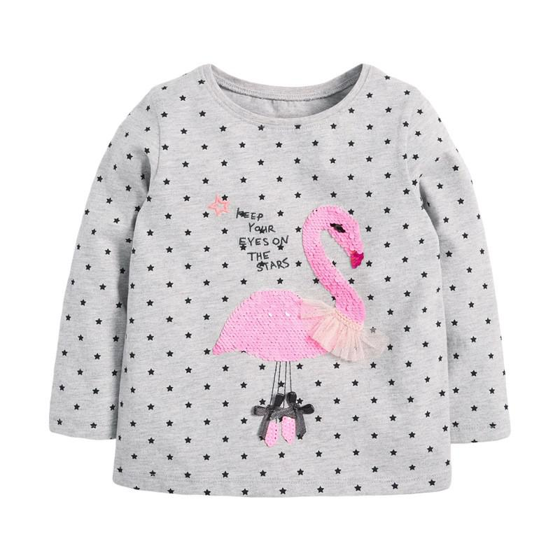 VIDMID Baby Girls Long Sleeve Casual T-shirts Kids Cotton Floral Cartoon Clothes Tops Children Girls T-shirts Tees Kids Baby Top 10