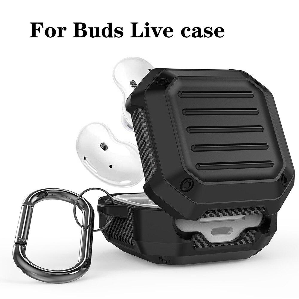Étui en TPU pour écouteurs Samsung Galaxy Buds Live, coque de protection complète antichoc pour casque découte avec crochet