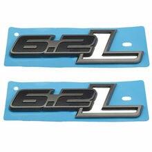 2 sztuk nowy 6.2L emblematy boczny błotnik odznaka samochodów Auto kalkomania bagażnik tylny 150