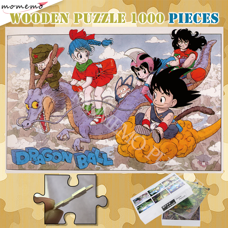 Cartoon Anime Wooden Puzzle 300 500 1000 Pieces Jigsaw Puzzles For Adults Dragon Ball Customized Puzzle 1000 Pieces Games Toys