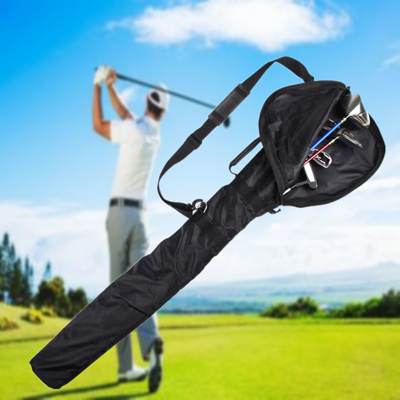 Foldable Golf Club Zipper Bag Outdoor Sports Waterproof Brassie Stick Storage Container Shoulder Package