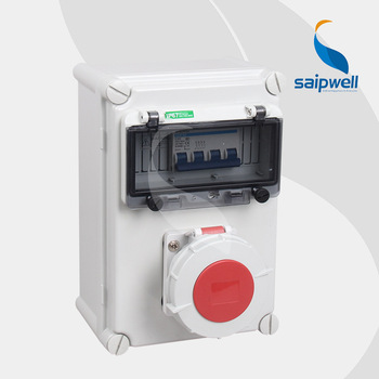цена на Saip/Saipwell Plastic Industrial power Combination Socket Box Distribution Boxes electrical Industrial socket & plug