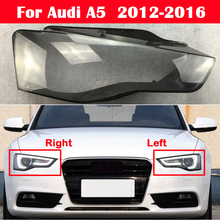 All New Head Light Case For Audi A5 B8.5 2012 2016 Auto Glass Lamp Shade Headlamp Lampcover Car Front Headlight Cover Lens Shell