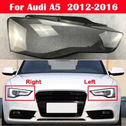 Coque de phare avant en verre pour Audi A5 B8.5 2012 – 2016, protection pour phare avant de voiture