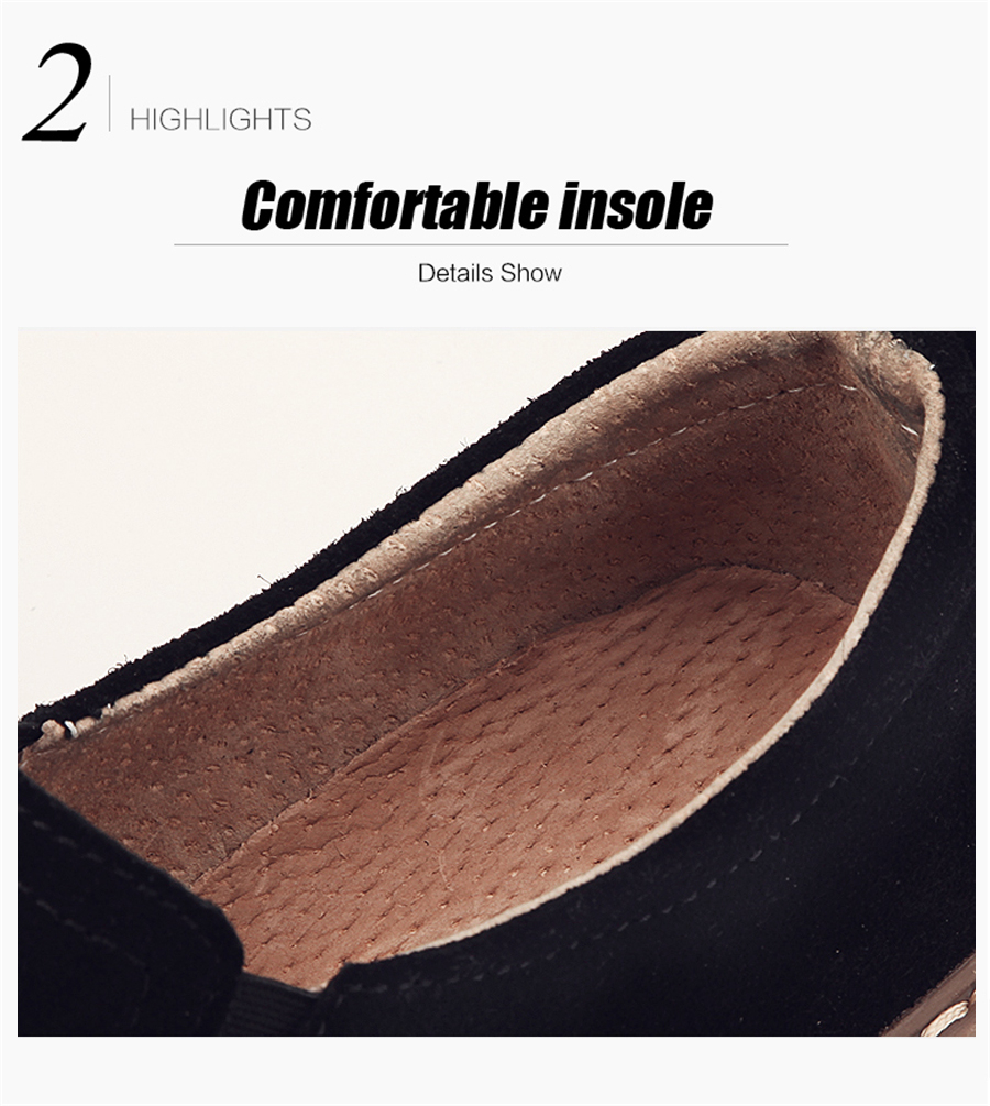 STS BRAND 2019 New Spring Women Flats Sneakers Suede Leather Round Toe Shoes Casual Shoes Women Slip On Flat Loafers Fazz Oxford (14)