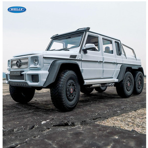 WELLY 1:24 Mercedes-Benz G-Class G63 6X6 car alloy car model simulation car decoration collection gift toy Die casting model