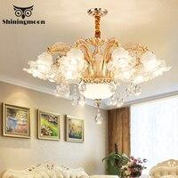 Nordic Luxury Chandelier Lighting Living Room Bedroom Ceiling Chandelier Hotel Hall Crystal Hanging Lamp Luminaria Light Fixture