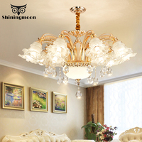 Nordic Luxury Chandelier Lighting Living Room Bedroom Ceiling Chandelier Hotel Hall Crystal Hanging Lamp Luminaria Light Fixture