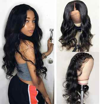 HD Transparent Lace Frontal Wigs Brazilian Body Wave Wig 180 Density Wavy Lace Front Wig T PART Lace Front Human Hair Wigs