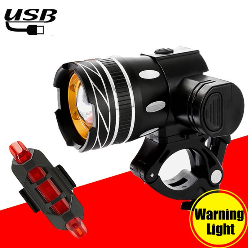 New 15000LM T6 LED MTB Rechargeable Rear/&Front Set Bicycle Lights Bike Headlight