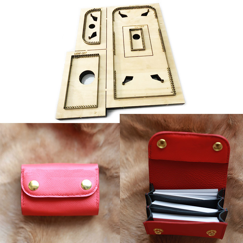 Japon lame en acier coupe pour artisanat cuir bricolage plié portefeuille coin sac faisant du bois découpe couteau moule ensemble poinçon 110x75x75mm
