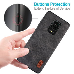 Image 3 - MOFi For redmi note 9s case for Mi Redmi Note 9 Pro max Cover Housing Silicone  shockproof jeans PU leather Black TPU Dustproof