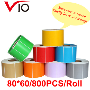 800pcs/roll Adhesive Thermal Color Label Sticker Paper Directly Print From Barcode Printer Waterproof Fast tag sticker thermal barcode sticker 40mm core 1 roll width 60mm 110mm direct thermal shipping label for zebra godex gprinter xprinter