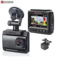 Ruccess 3 en 1 détecteur de Radar de voiture DVR intégré GPS vitesse Anti Radar double lentille Full HD 1296P 170 degrés enregistreur vidéo 1080P