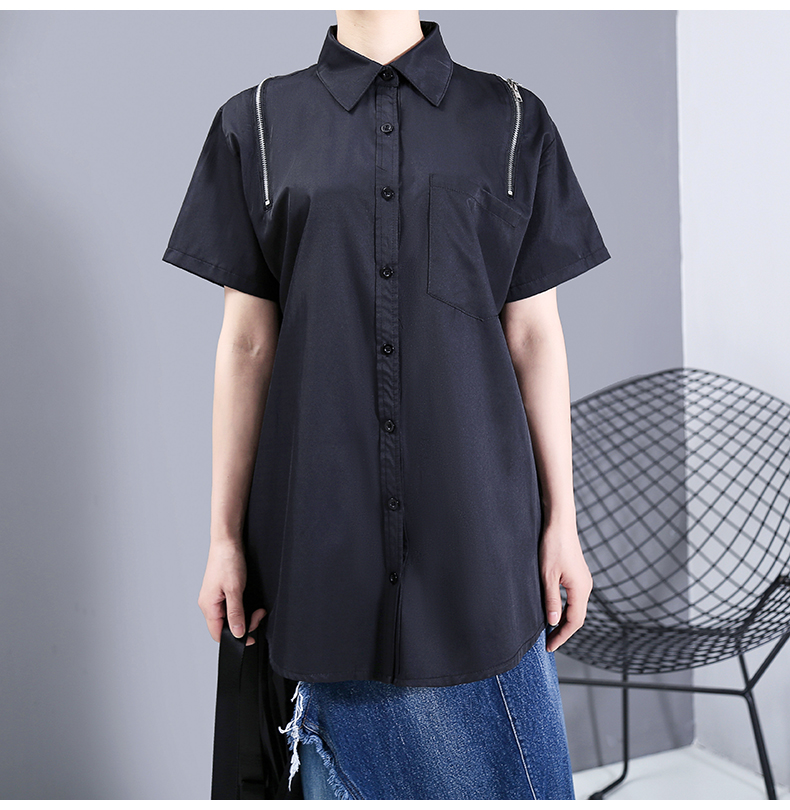 New Fashion Oversized Hollow Out Convertible Hipster Blouse Shirt