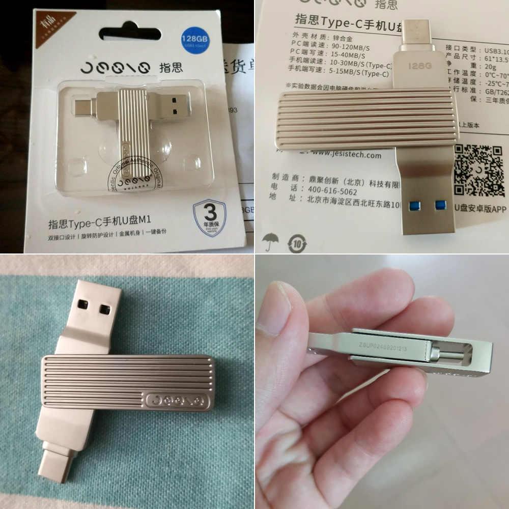 Xiaomi Jessis U Disk 128/32/64 GB Recorder Type-C Dual USB Flash Drive OTG USB 3.1 USB Stick Voor Telefoon Tablet PC MAC